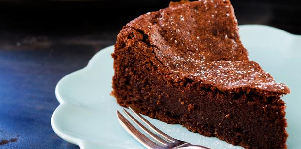 Chocolate almond cake. Photo / Babiche Martens