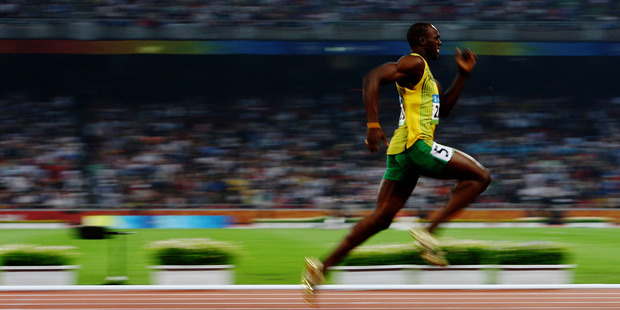 Usain Bolt's astonishing feats at Beijing ensure all eyes will be on the men's 100m as he tries for a repeat. Picture / AP