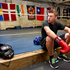 Josh Francis rests after practice at City Boxing Gym. Photo / Steven McNicholl