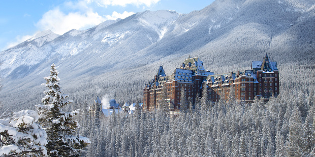 The Fairmont Banff Springs Hotel. Photo / Banff Lake Louise Tourism