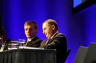 John Key and Bill English at the National Party conference. Photo /  Michael Craig