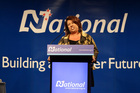 Social Development Minister Paula Bennett at the conference. Photo / Michael Craig