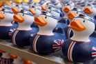 Olympic-themed rubber duckies are a snip at $10 in the John Lewis department store adjacent to London's Olympic Park. Photo / Mark Mitchell
