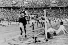 Jack Lovelock's 1500m win in Berlin was accompanied by a stirring commentary from 1924 100m champion Harold Abrahams. Photo / AP