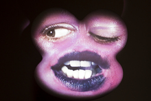 'Sang' by Tony Oursler, showing at Fox/Jensen Gallery. Photo / Natalie Slade