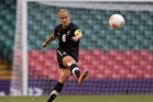 New Zealand Football Ferns captain Rebecca Smith during the opening match between New Zealand and Great Britian, held at Millennium Stadium, Cardiff, Wales. Photo / Brett Phibbs