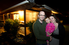 Peter and Caroline Osborne and young Isabelle have a lot more room at their new Papakura home than they would in the city. Photo / Richard Robinson