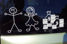 Flipping the bird at those stick figure car decals. Photo / Supplied