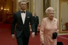 Daniel Craig and the Queen on a mission. Photo / Supplied