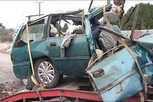Benjamin Blake of Chile was the only survivor of this crash which killed four others. Photo / One News