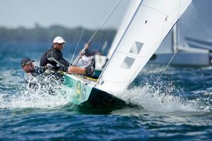 New Zealand sailors Hamish Pepper and Jim Turner. Photo / AP