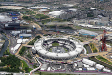 The Olympic stadium in London. Photo / AP