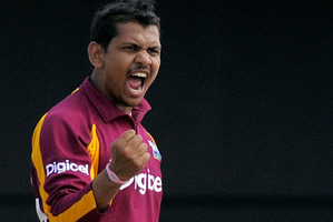 West Indian twirler Sunil Narine. Photo / AP.