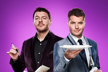 My Kitchen Rules' judges Peter Evans and Manu Feildel will be on our screens three nights a week in the latest series of the Aussie cooking show. Photo / Supplied