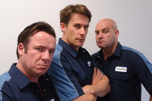 Jason Hoyte (left), Jeremy Wells, and Leigh Hart from Olympico. Photo / Supplied