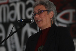 Professor Margaret Mutu accused white immigrants of bringing racist attitudes. Photo / APN