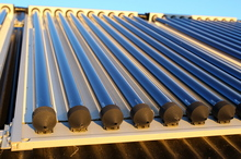 Roof top solar water heating unit. Photo / APN