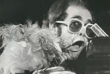 Elton John performs at Western Springs in 74. Photo / APN