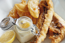 Beer-battered fish and chips. Photo / Chris Court