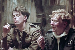 Rupert Grint, right, fails to impress in his first post-Harry Potter screen outing in Into the White. Photo / Supplied