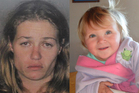 Eighteen-month-old Alyssa Barker (right) was taken from her house near Kaukapakapa yesterday afternoon by a family acquaintance, 27-year-old Skye Mason. Photo / NZ Police.