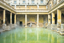 The entrancing waters of the old Roman bath are a sensation for the mind and eyes alone - swimming is not permitted. Photo / Supplied