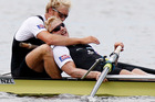 Eric Murray and Hamish Bond are favourites to bring home gold in the men's pair. Photo / Christine Cornege