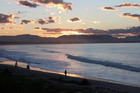 Byron Bay at sunset. Photo / Colin Espiner