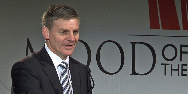 Loading Finance Minister Bill English told business leaders today that the Prime Minisiter will not raise the retirement age. Photo / Phil Davis