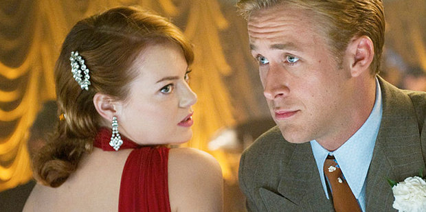 Emma Stone and Ryan Gosling in upcoming film Gangster Squad. Photo / Supplied