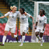 Great Britain's Stephanie Houghton celebrates her goal against New Zealand with teammates Ifeoma Dieke and Eniola Aluko. Photo / Brett Phibbs