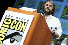 Peter Jackson talks to fans at Comic-Con in San Diego. Photo / AP