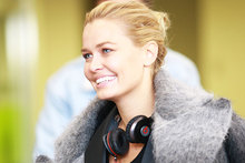 Lara Bingle lands in Queenstown. Photo / Norrie Montgomery