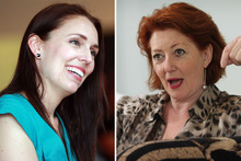Labour MP Jacinda Ardern, left, and National MP Maggie Barry. Photos / File