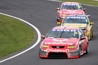 Jamie Whincup's Falcon at Pukekohe in 2007. Photo / Getty Images