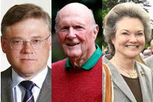 Three new Rich Listers: (from left) Alexander Abramov, Julian Robertson and Dowager Duchess Henrietta Bedford