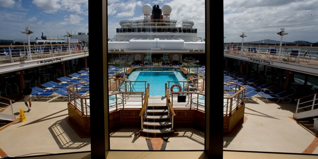The pool aboard the 90,000 tonne Queen Victoria cruise ship. Photo / Dean Purcell