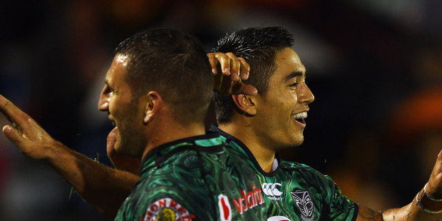 Join us here for live updates as the Warriors take on Manly from Patersons Stadium. Photo / Getty Images.