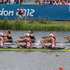 New Zealand Women's Quadruple Sculls crew of Sarah Gray, Louise Trappitt, Fiona Bourke and Eve MacFarlane in action during the Rowing Women's Quadruple Sculls Final B. Photo / Brett Phibbs