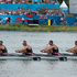 New Zealand rowing Men's Quadruple Sculls crew of Robert Mason, Matthew Trott, Michael Arms and John Storey during the Semi-final of the Men's Quadruple Sculls. Photo / Brett Phibbs