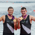 New Zealand Double Scull pair of Joseph Sullivan and Nathan Cohen with their Gold Medals during the Medal Ceremony, after winning Gold in the Men's Double Sculls Rowing Final. Photo / Mark Mitchell