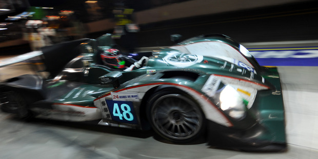 Brendon Hartley at the Le Mans 24-hour in a Murphy Prototypes Oreca 03-Nissan LMP2 car. Photo / Daily Sports Car