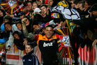 Sonny Bill Williams of the Chiefs celebrates his try. Photo / Getty Images