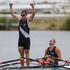 New Zealand Double Scull pair of Nathan Cohen and Joseph Sullivan win Gold in the Men's Double Sculls Rowing Final. Photo / Brett Phibbs