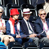 Princess Anne and Prince Phillip watching competition in the dressage at the Equestrian Greenwich Park. Photo / Mark Mitchell