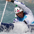 David Florence, of Great Britain, during his heat in the Olympic Games Canoe Slalom canoe single at the Lee Valley White Water Centre near London. Photo / Mark Mitchell