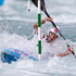 Ella Nicholas from the Cook Islands, in action during the Heats of the Canoe Slalom, Kayak Single (K1) Women, held at Lee Valley White Water Centre. Photo / Brett Phibbs