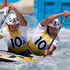 Kynan Maley and Robin Jeffery from Australia, in action during the Heats of the Canoe Slalom, Canoe Double (C2) Men, held at Lee Valley White Water Centre. Photo / Brett Phibbs