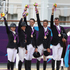 New Zealand's Jonelle Richards, Caroline Powell, Jonathan Paget, Andrew Nicholson and Mark Todd after winning Bronze in the Equestrian Eventing, held at the Equestrian venue at Greenwich Park. Photo / Brett Phibbs