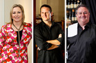Food stars: Soul Bar's Judith Tabron, Vivace's Steven Mckenzie, O'Connell St Bistro's Chris Upton and Tyler St Garage and Ebisu's Brendan Turner. Photos / Steven McNicholl/Babiche Martens/Supplied
